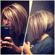 I like the front, not the back Bob Haircuts, Bob Hairstyles, Hair Day, New Hair, Bob Haircut For Girls, Hairdo Wedding, Hair Color And Cut, Balayage Hair, Hair Designs