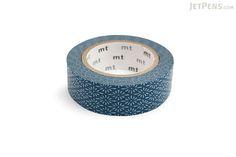 JetPens.com - MT Patterns Washi Tape - Flower Crest Hanabishi Tomekon (Blue) - 15 mm x 10 m | @giftryapp