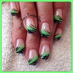 Bright Green With Black by TraiSeasEscape