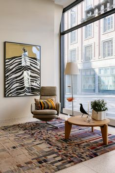URBAN handtufted rug depicts a cityscape. The design is inspired by Bauhaus. Bauhaus Textiles, Vitra Design, Josef Albers, Brand Store, Textile Design, Relax, Urban, Rugs, Inspiration