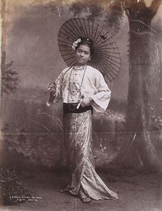 Burmese Beauty with Japanese Umbrella by Philip Adolphe Klier