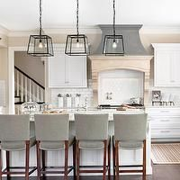 Contemporary Kitchen With Pentalquartz Canyon Merillat