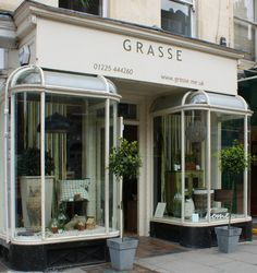 Grasse store front and window displayed on Argyle Street in Bath, United Kingdom