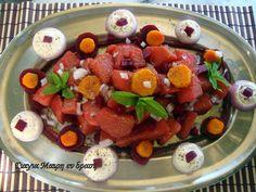 Αλμυρό μενού Πρωτοχρονιάς Fruit Salad, Menu, Food, Christmas, Menu Board Design, Xmas, Fruit Salads, Essen, Navidad