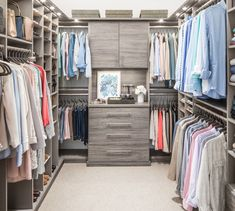 Inspired Closets | Custom Closets and Home Organization Walk In Closet Design, Bedroom Closet Design, Master Bedroom Closet, Closet Designs, Diy Walk In Closet, Teen Closet, Walk Through Closet, Glam Closet, Modern Closet