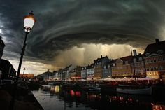 Twitter / Gotham3: Incredible storm 'Bodil' reaches Denmark.