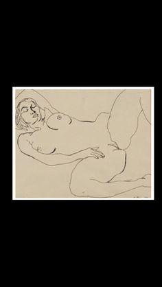 "Renato Guttuso - "" Donna nuda "", 1977 - Ink on paper - 16 x 20 cm"