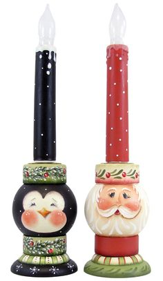 Santa & Helper Candleholders DOWNLOAD