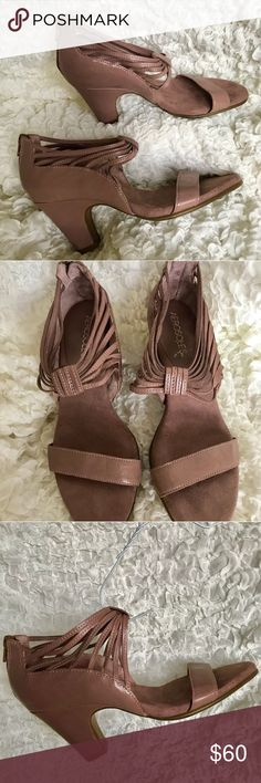 Aerosoles soft pink leather heels (NWOT) Soft pink leather shoes with back zipper detail.  Very comfortable, rubber bottoms with chunky heel. Never worn, brand new. AEROSOLES Shoes Heels
