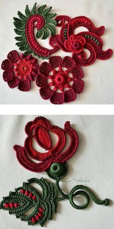 Watch The Video Splendid Crochet a Puff Flower Ideas. Phenomenal Crochet a Puff Flower Ideas. Irish Crochet Patterns, Crochet Motifs, Crochet Stitches, Knitting Patterns, Postila Ru Crochet, Freeform Crochet, Crochet Leaves, Crochet Flowers, Motifs Roses