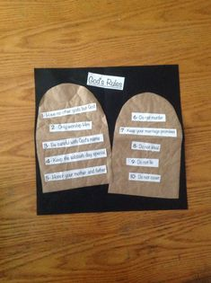 Ten Commandments Craft