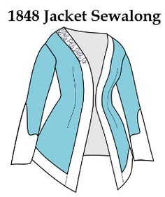 Free pattern for a 1848 jacket with sew-a-long tutorial. Marmota's Dress Diaries