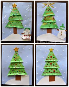 Kids Christmas Tree Craft via I Heart Crafty Things