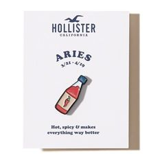Hollister x Valley Cruise Press Zodiac Pin ($10) ❤ liked on Polyvore featuring jewelry, brooches, aries, pin jewelry, enamel jewelry, pin brooch and enamel brooches