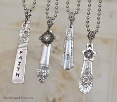 My Salvaged Treasures: Another Batch of Vintage Silverware Necklaces