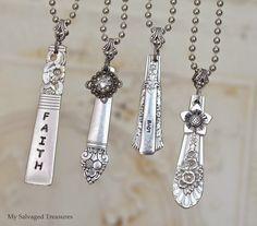 repurposed silverware necklaces