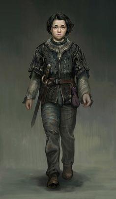 Arya Stark by Frank Lee #asoiaf #gameofthrones