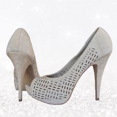 Nude Heels! Beautiful laser cut heels! Never worn!! Apt. 9 Shoes Heels
