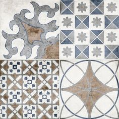 Vintage Mix Patterned Porcelain Floor Tile, Beautiful, Great Quality, Best Prices, All Tiles From Stock Floor Grout, Tile Floor, Wall Tile Adhesive, Small Tiles, Porcelain Floor, Underfloor Heating, Grey Flooring, Pattern Mixing, Vintage Patterns