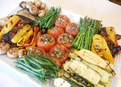 Just One Donna!: Grilled Marinated Vegetable Platter