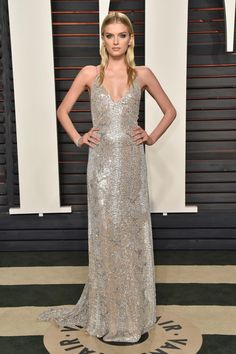 Lily Donaldson in Saint Laurent at the 2016 Vanity Fair Oscar Party. Photo: Pascal Le Segretain/Getty Images.