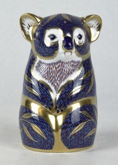 Royal Crown Derby ~ Porcelain figural koala bear ~ Approx. 5 inches long