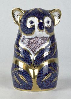 Royal Crown Derby ~ Porcelain figural koala bear ~ Approx. 5 inches long