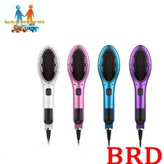 BRD Hair Styler Tool Hair Beauty Products Professional Steam Hair Comb Brush Hair Straightener with Built-in Water Tank