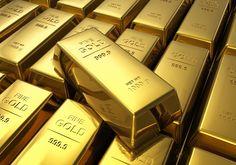Gold bars .