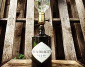 Items similar to hendruck's gin custom bottle lamp on Etsy