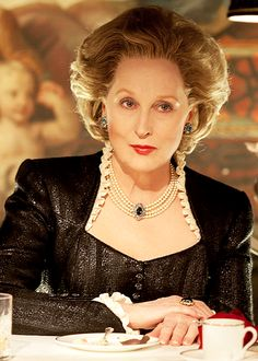 "Streep as Margaret Thatcher in ""The Iron Lady"" (2011)"