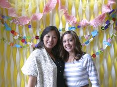DIY Photo Booth Backdrop!  http://skiptothedetails.wordpress.com/2013/09/27/bridal-shower/