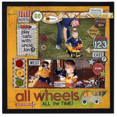 This site has tons of scrapbooking layout ideas