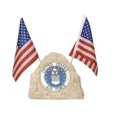 Woods International 7574 Solar Military Rock with Air Force Emblem, 14-Inch by 8.625-Inch by 4-Inch by Woods International. $19.16. Approved air force emblem. Solar rechargeable battery included. Lighted air force emblem polyresin rock with two flags. Remember and honor the Military service of the Air Force. Use this solar rechargeable rock in a sunny outdoor location. Light activates in the evening and stays lit for several hours depending on the amount of li...