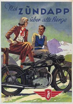 1938 Zundapp German Motorcycle