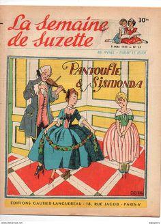 Ill. Maggie Salcedo, La Semaine De Suzette N°23 Pantoufle & Sismonda - Patron Pour Bleuette Jupe En Coton De 1955