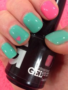 Feel the love with GELeration's Mint Julep and Flirty.