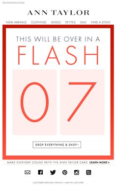 Ann Taylor Flash Sale email Email Marketing Design, Email Design, Sale Emails, Newsletter Design, Email Campaign, Email Templates, Sale Poster, Web Banner, Winter Sale