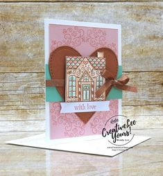 With Love (Paper Pumpkin Alternate) - Creativelee Yours Print Box, Paper Pumpkin, Card Kit, Craft Kits, Peppermint, Gingerbread, Stampin Up, Paper Crafts, Birthday