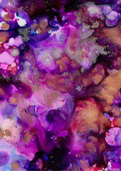 Abstract Art - Alcohol Inks  - matt violassi