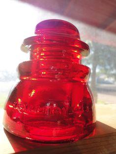 Beautiful Hemingray 45 Red Glass Insulator Colored by rustjunkies, $30.00