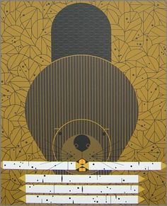 Dam Diligent (Beaver) - by Charley Harper Charley Harper, Wood Badge, Les Oeuvres, Art Lessons, Graphic Art, Illustration Art, Fine Art, Drawings, Artwork