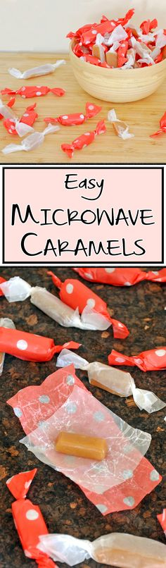 Delicious and easy caramels — in the microwave!