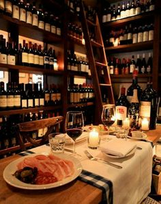 Wine at the Private Chef's table ......