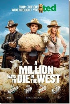 """Seth MacFarlane directs, produces, co-writes and plays the role of the cowardly sheep farmer Albert in """"A Million Ways to Die in the West"""". After Albert backs out of a gunfight, his fickle girlfriend leaves him for another man. When a mysterious and beautiful woman rides into town, she helps him find his courage and they begin to fall in love. But when her husband, a notorious outlaw, arrives seeking revenge, the farmer must put his newfound courage to the test."""