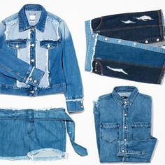 We can't get enough #denimondenim Tap the link in our bio to shop the look! #flatlay #flatlays #flatlayapp www.flat-lay.com