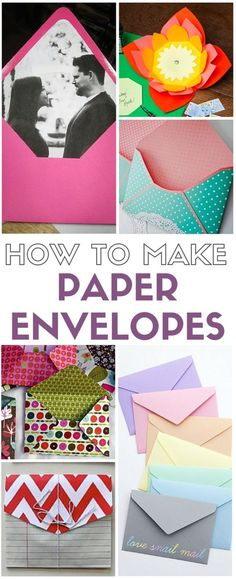Don't buy envelopes for those special cards and invitations, make your own! A collection of templates and tutorials on how to make paper envelopes. Each a simple DIY craft tutorial idea. handmade gifts