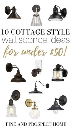 Here are ten cottage style wall sconce Ideas that are under fifty bucks! Here are ten cottage style wall sconce Ideas that are under fifty bucks! Lighting is often expensive, and shopping for new fixtures can become overwhelming Indoor Wall Sconces, Bathroom Wall Sconces, Wall Sconce Lighting, Bedside Lighting, Cottage Lighting, Farmhouse Lighting, Office Office, Chandeliers, Farmhouse Wall Sconces