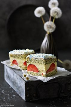 Polish Recipes, Dessert Recipes, Desserts, Food And Drink, Yummy Food, Sweets, Dishes, Baking, Birthday