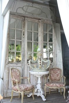 lovely doors and chairs